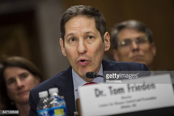 Dr Thomas Tom Frieden director of the Centers for Disease Control and Prevention testifies during a Senate Foreign Relations subcommittee hearing in...