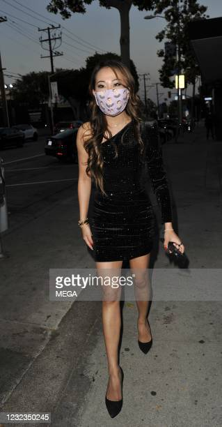 """Dr. Tiffany Moon from Bravo's """"The Real Housewives of Dallas"""" is seen at Craig's in West Hollywood on April 16, 2021 in Los Angeles, California."""