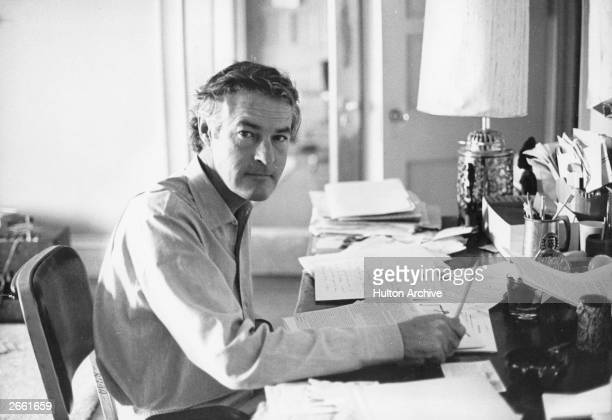Dr Timothy Leary, the LSD advocate, working at his desk. Original Publication: People Disc - HG0050