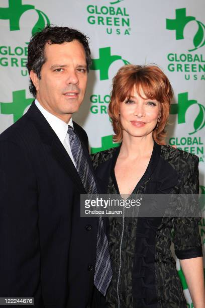 Dr Tom Apostle and actress Sharon Lawrence arrive at Global Green USA's 14th Annual Millennium Awards at Fairmont Miramar Hotel on June 12 2010 in...