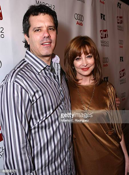Dr Tom Apostle and actress Sharon Lawrence arrive at the 2nd season premiere screening of FX Network's Dirt held at the Arclight theaters on February...