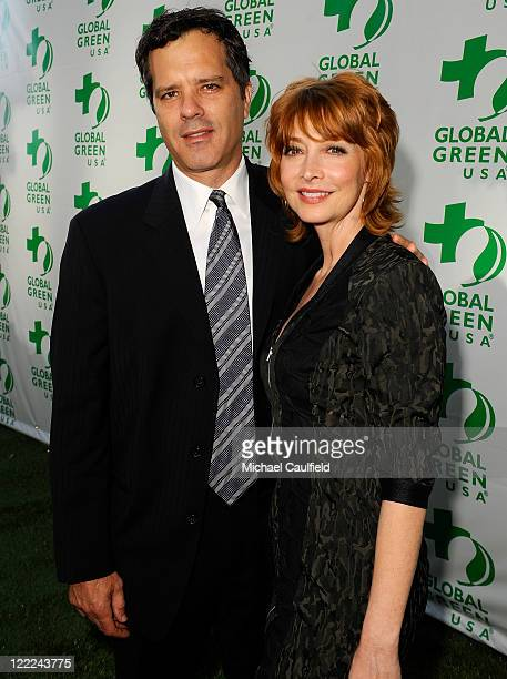 Dr Tom Apostle and Sharon Lawrence arrive at Global Green USA's 14th annual Millenium Awards held at the Fairmont Miramar Hotel on June 12 2010 in...