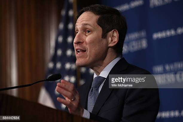 Dr Tom Frieden Director of the US Centers for Disease Control and Prevention speaks at the National Press Club May 26 2016 in Washington DC Frieden...