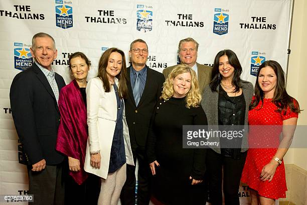 Dr Tom Strouse Lori Zuckerman Jo and Eric Sornborger Delany and Daryl Thrasher Dana Katz and Actress Kira Reed Lorsch arrive for The Thalians...