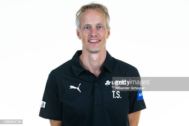 Dr Torsten Schroeder poses during the 1 FFC Frankfurt Women's team presentation on September 7 2018 in Frankfurt am Main Germany i