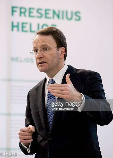 Dr. Ulf M. Schneider, CEO Fresenius, during the Annual Press Conference in Bad Homburg, on February 25, 2015 in Bad Homburg, Germany.