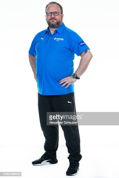 Dr Uwe Schroeder poses during the 1 FFC Frankfurt Women's team presentation on September 7 2018 in Frankfurt am Main Germany i