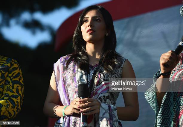 Dr Uzma Gul speaks onstage during Global Citizen Festival 2017 at Central Park on September 23 2017 in New York City