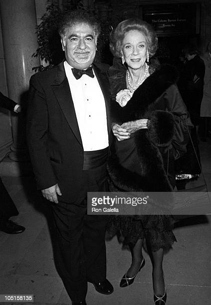 Dr Vartan Gregorian and Brooke Astor during 1987 Literary Lion Awards at New York Public Library in New York City New York United States