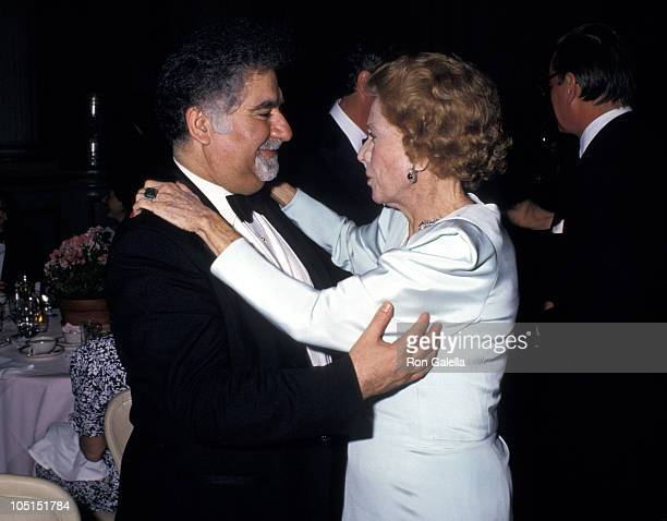 Dr Vartan Gregorian and Brooke Astor during Henry Street Settlement Benefit Gala at The Plaza Hotel in New York City New York United States