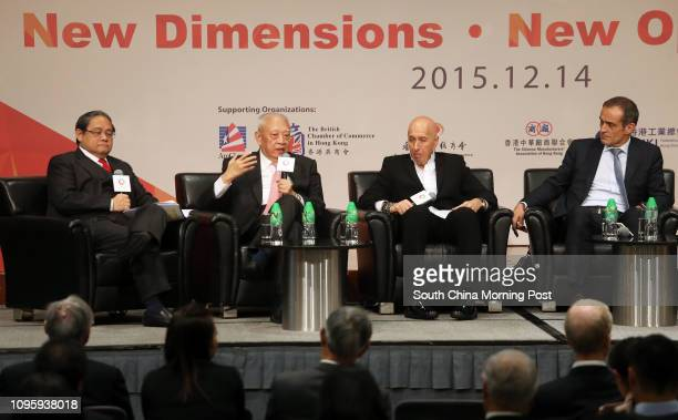 Dr Victor Fung, Group Chairman of Fung Group; Tung Chee-hwa, Founder and chairman of Our Hong Kong Foundation; Dr Allan Zeman, chairman of Lan Kwai...
