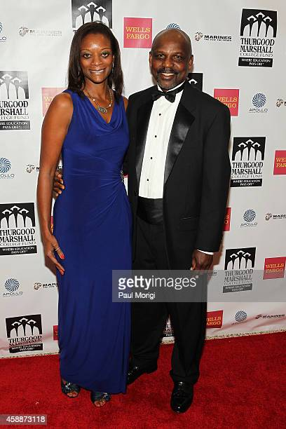 Dr Victor Ukpolo and Dr Fawn Ukpolo of Southern University at New Orleans attend the Thurgood Marshall College Fund 26th Awards Gala at Washington...