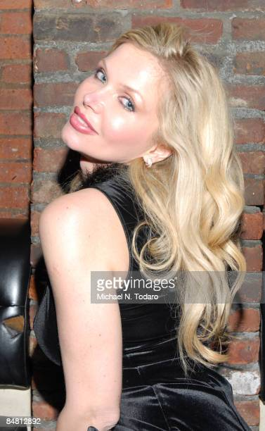 Dr Victoria Zdrok attends the Rock of Love Bus screening party at Home on February 15 2009 in New York City