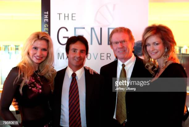 Dr Victoria Zdrok Dr Vincent Giampapa Dr Fredrick Buechel and Playboy Playmate Natalia Sokolova pose for pictures at The Gene Makeover by Dr Vincent...