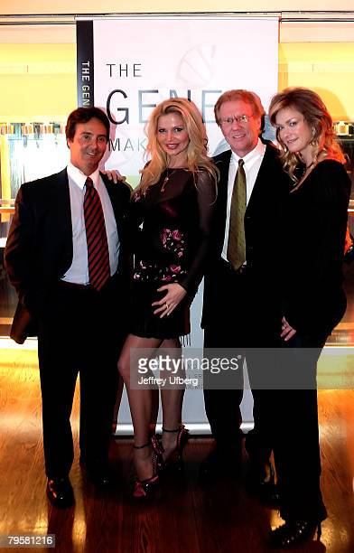 Dr Vincent Giampapa Dr Victoria Zdrok Dr Fredrick Buechel and Playboy Playmate Natalia Sokolova pose for pictures at The Gene Makeover by Dr Vincent...