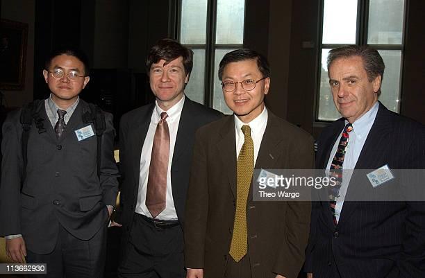 Dr Wan Yan Hai Prof Jeffrey D Sachs Dr David D Ho and Dr Allan Rosenfield