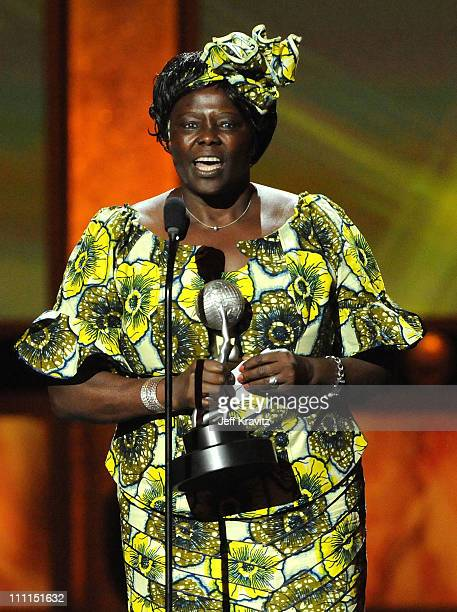 Dr Wangari Maathai onstage at the 40th NAACP Image Awards held at the Shrine Auditorium on February 12 2009 in Los Angeles California