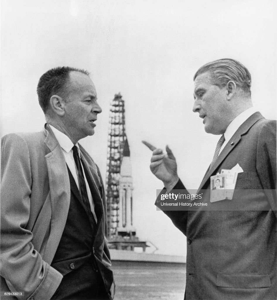 Dr Wernher Von Braun And Harrison A Storm Discussing Sa 5