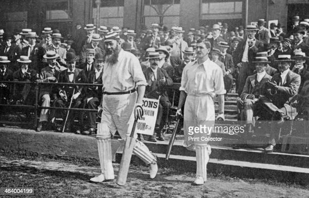 Dr WG Grace, English cricketer, walking out to bat, c1899. Regarded as possibly the greatest cricketer of all time, WG Grace played first class...