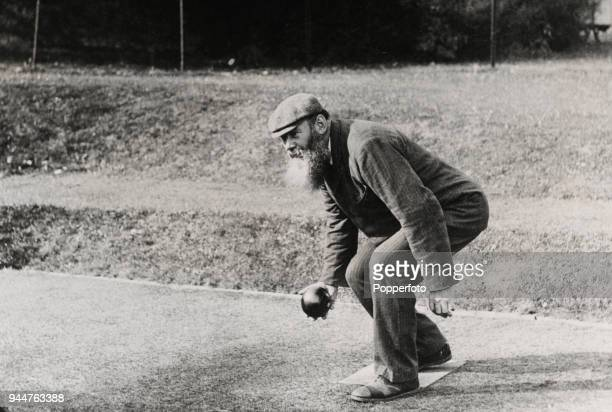 Dr WG Grace enjoying a game of bowls on the lawns of the South London Bowling club in Wandsworth, circa 1905. After his illustrious cricket career...
