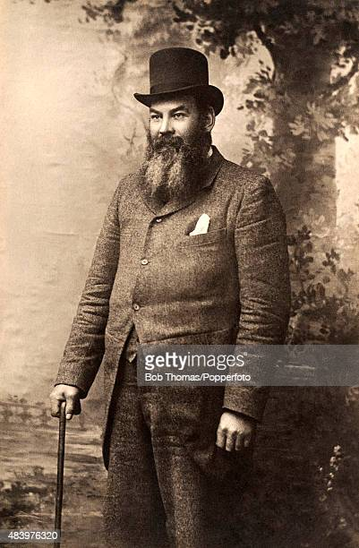 Dr WG Grace, Gloucestershire, London County, and England cricketer, photographed circa 1908.