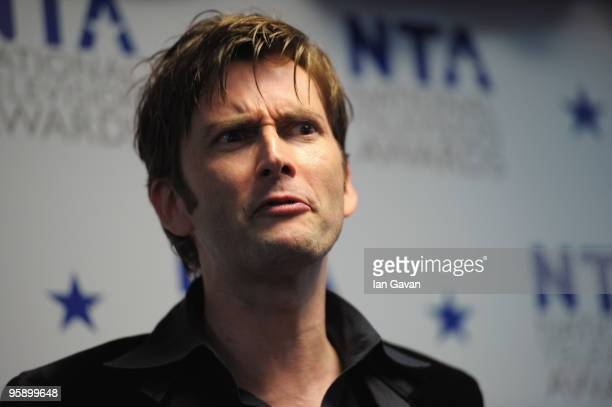 Dr Who actor David Tennant appears backstage at the National Television Awards held at O2 Arena on January 20, 2010 in London, England.
