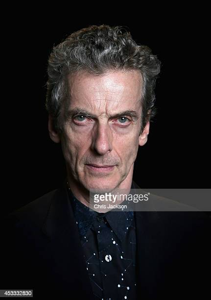 Dr Who actor Peter Capaldi poses for a portrait at the BFI Southbank as he attends the London Premiere of 'Doctor Who' at BFI Southbank on August 7...