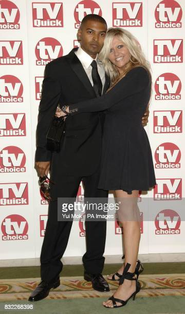 Dr Who couple Camille Coduri and Noel Clarke arrives for the TV Quick and TV Choice Awards at the Dorchester Hotel central London