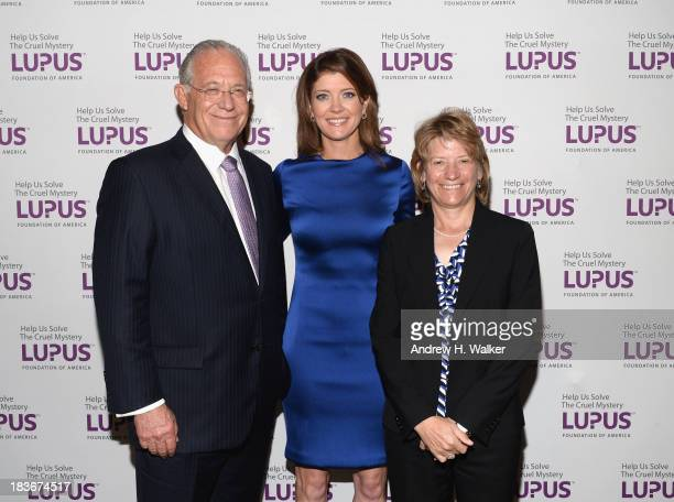 Dr William Haseltine Norah O'Donnell and Laurie Olson attend the Lupus Foundation Of America National Gala at Gotham Hall on October 8 2013 in New...