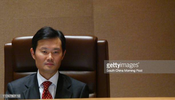 Dr William Ho Shiuwei JP Chief Executive of Hospital Authority Board who announces his resignation today in a meeting at Hospital Authority...