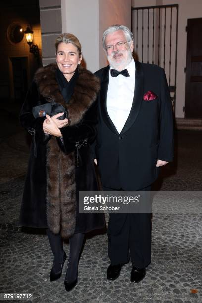Dr Wolf Ruediger Bub and his wife Sabine Bub during the 80th birthday party of Roland Berger at Cuvillies Theatre on November 25 2017 in Munich...