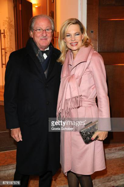 Dr Wolfgang Reitze and his wife Nina Ruge during the 80th birthday party of Roland Berger at Cuvillies Theatre on November 25 2017 in Munich Germany