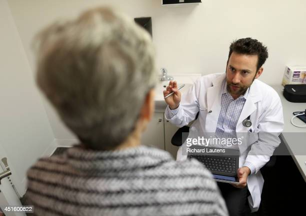 Dr Yermus consults with Ruth who is battling crippling arthritis among other conditions Toronto's first medicinal marijuana clinic had it's opening...
