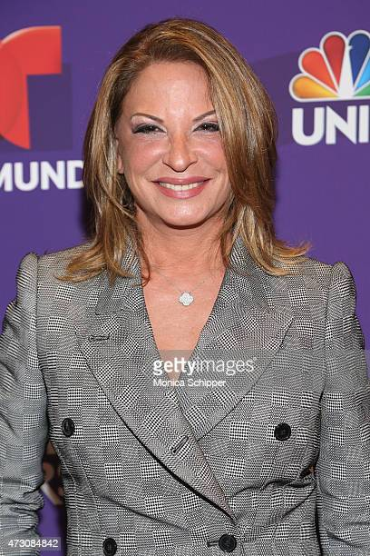 Dra Ana María Polo attends the 2015 Telemundo and NBC Universo Upfront at Frederick P Rose Hall Jazz at Lincoln Center on May 12 2015 in New York City