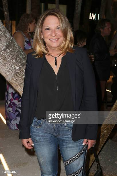 Dra Ana Maria Polo is seen at the grand opening of the Estefan Kitchen restaurant at the Palm Court in the Design District on March 3 2017 in Miami...