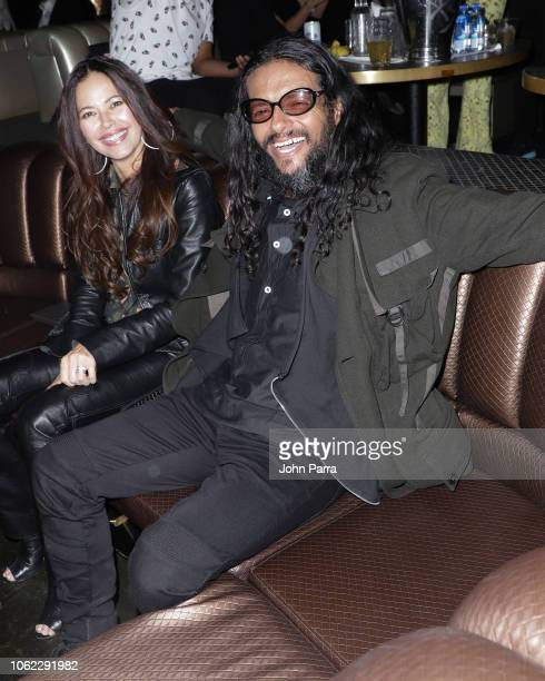 Draco Rosa and Angela Alvarado are seen at Sony Music Latin Official Latin Grammy's After Party on November 15 2018 in Las Vegas Nevada