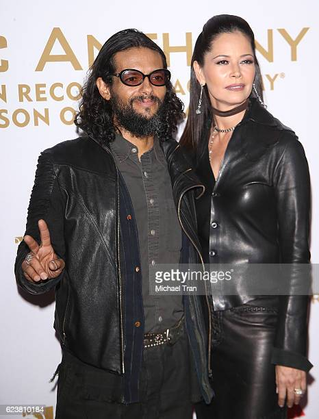 Draco Rosa and Angela Alvarado arrive at the 2016 Latin GRAMMY Person of The Year honoring Marc Anthony held at MGM Grand Garden Arena on November 16...