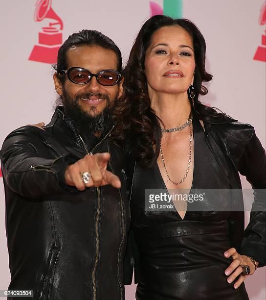 Draco Rosa and Angela Alvarado attend the 17th Annual Latin Grammy Awards on November 17 2016 in Las Vegas Nevada