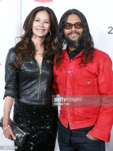 Draco Rosa and Angela Alvarado attend the Latin Recording Academy's 2018 Person of the Year gala honoring Mana at the Mandalay Bay Events Center on...