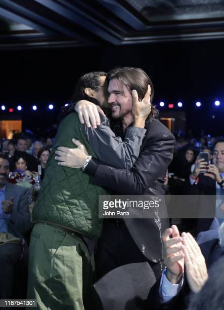 Draco Rosa and Honoree Juanes attend the Latin Recording Academy's 2019 Person of the Year gala honoring Juanes at the Premier Ballroom at MGM Grand...