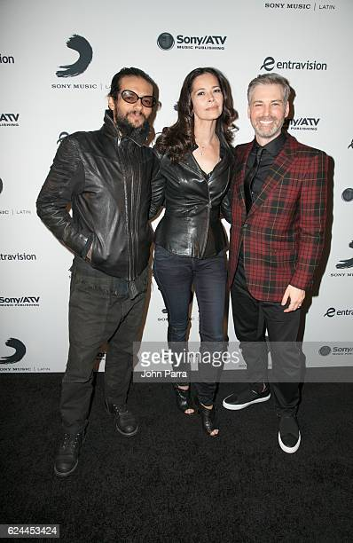 Draco Rosa Angela Alvarado and Nir Seroussi attend Sony Music Latin Celebrates Its Artists at Their Official Latin Grammy After Party on November 17...