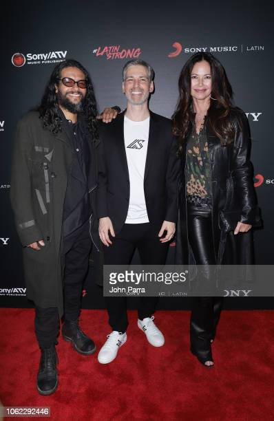 Draco Rosa Nir Seroussi and Angela Alvarado arrive at Sony Music Latin Official Latin Grammy's After Party on November 15 2018 in Las Vegas Nevada