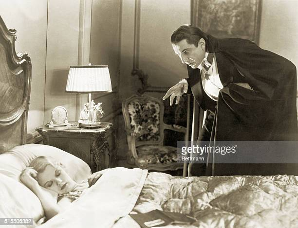 Dracula has his sights on Mena Seward in this scene from Universal Pictures' 1931 rendition of the horror classic