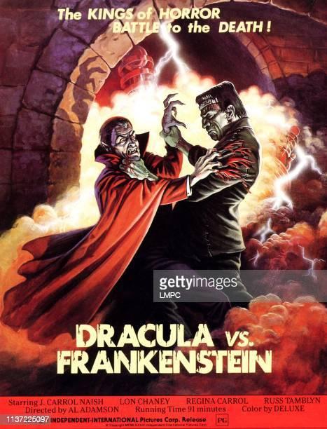 Dracula Vs Frankenstein poster from left Zandor Vorkov John Bloom 1971