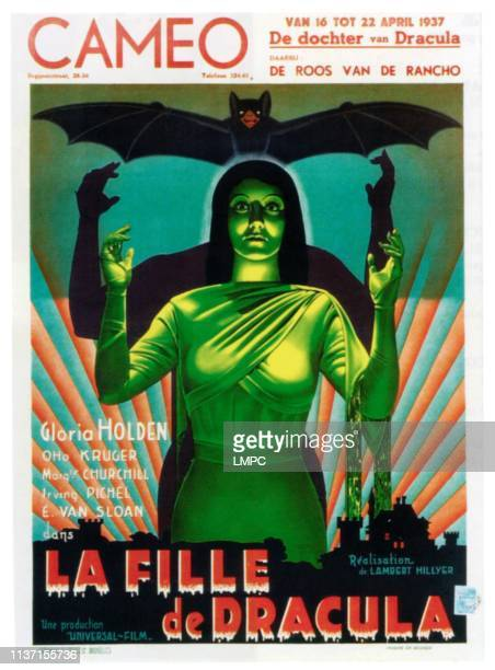 Dracula's Daughter poster Gloria Holden on Belgian poster art 1936