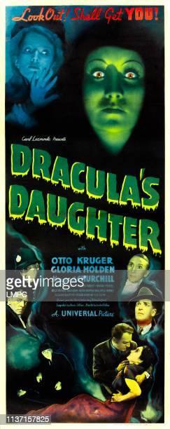 Dracula's Daughter poster top from left Marguerite Churchill Gloria Holden bottom left Edgar Norton bottom right center Otto Kruger 1936