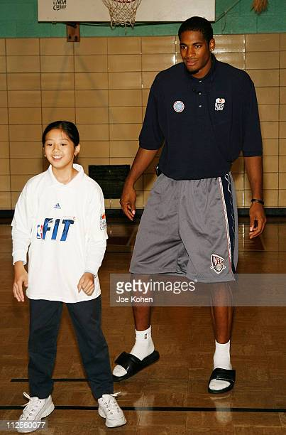 NBA Draft pick rookie Sean Williams join students from Public School 83 Luis Munoz Rivera to encourage a healthy and active lifestyle part of the...