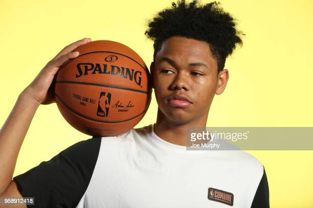 Draft Prospect Anfernee Simons poses for a portrait during the 2018 NBA Combine circuit on May 15 2018 at the Intercontinental Hotel Magnificent Mile...