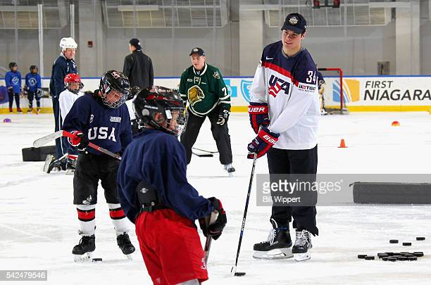 NHL draft prospect Auston Matthews participates in the Top Prospects Clinic at the Harborcenter on June 23 2016 in Buffalo New York