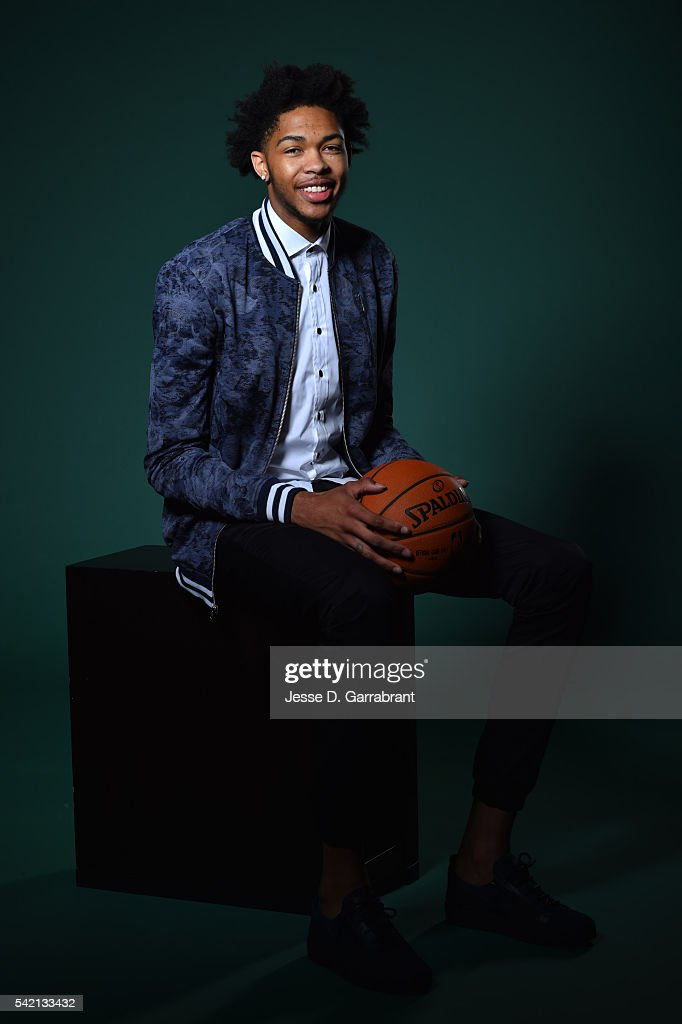 NBA Draft Prospect, Brandon Ingram poses for portraits during media availability and circuit as part of the 2016 NBA Draft on June 22, 2016 at the Grand Hyatt New York in New York City.